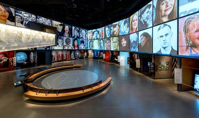 Canadian Museum for Human Rights timeline exhibit